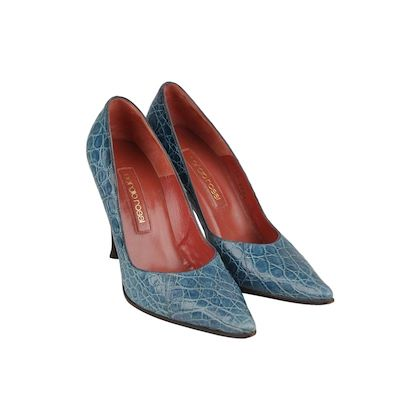 embossed-croc-look-classic-pumps-size-38