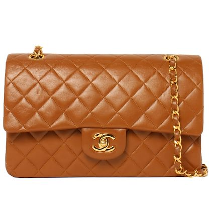 chanel-classic-flap-chain-bag-25cm-brown-2