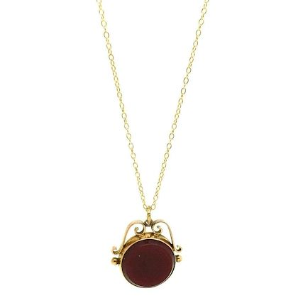 antique-victorian-carnelian-bloodstone-9ct-gold-fob-necklace