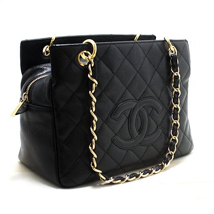 chanel-caviar-chain-shoulder-shopping-tote-bag-black-quilted-purse