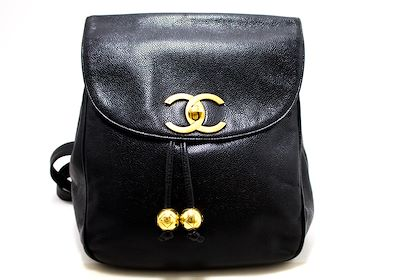chanel-caviar-backpack-chain-bag-leather-black-flap-gold-hardware