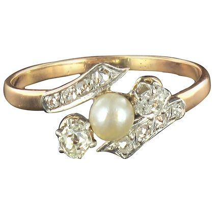 french-antique-fine-pearl-diamond-gold-ring-2