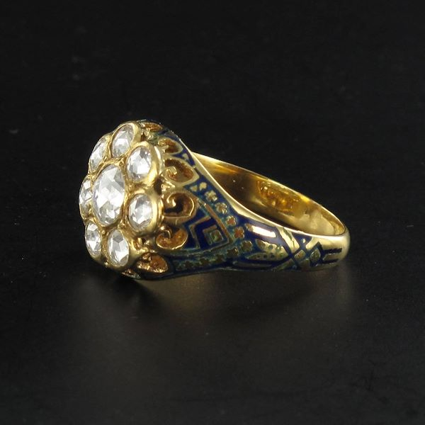 106-carat-rose-cut-diamond-and-enamel-ring-2