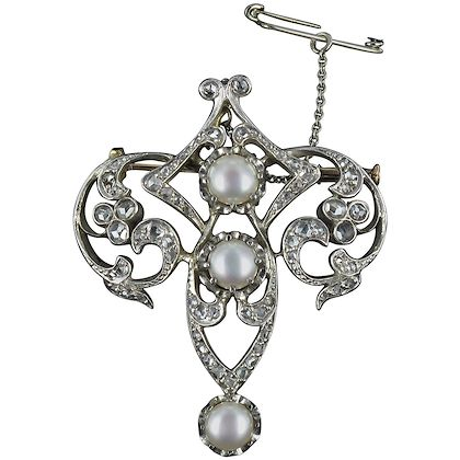 antique-diamond-and-pearl-brooch-2