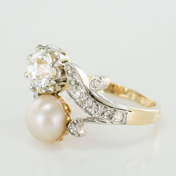 19th-century-napoleon-3-diamond-natural-pearl-you-and-me-engagement-ring-2