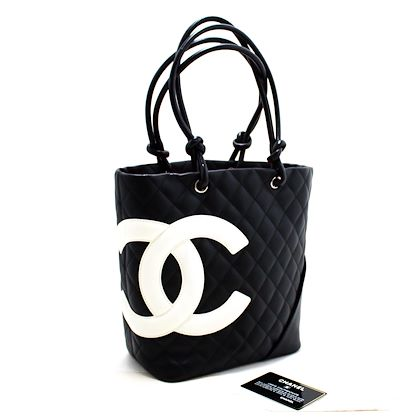 chanel-cambon-tote-small-shoulder-bag-black-white-quilted-calfskin-5