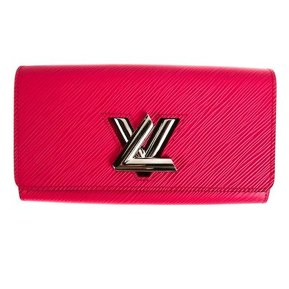 louis-vuitton-epi-leather-twist-chain-wallet-long-hot-pink-pre-owned-used
