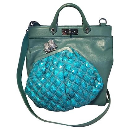 marc-jacobs-seafoam-green-leather-and-sequin-small-duffy-frog-tote