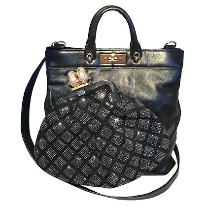 marc-jacobs-black-leather-and-sequin-small-duffy-frog-tote
