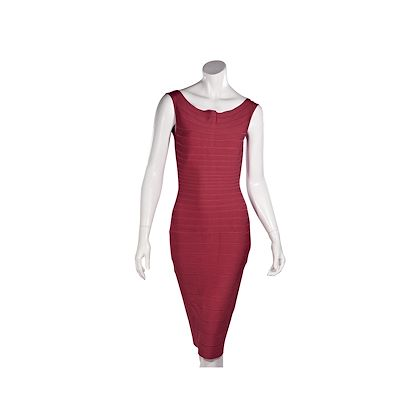 pink-herve-leger-sleeveless-bandage-dress-2