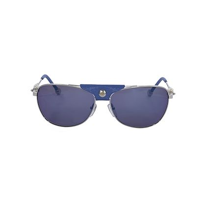blue-and-silver-shamballa-leather-trimmed-aviator-sunglasses