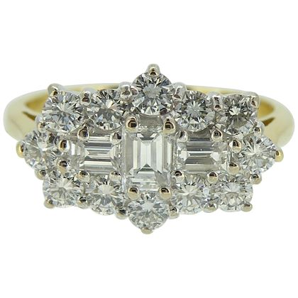 10-carat-diamond-cluster-ring-baguette-and-brilliant-cut-boat-shape-style