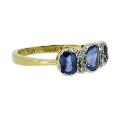 1920s-engagement-ring-with-diamonds-and-synthetic-sapphires