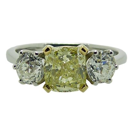 117-carat-gia-certified-cushion-cut-yellow-diamond-ring