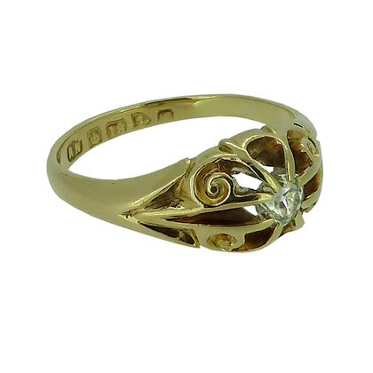 025-carat-antique-diamond-solitaire-ring-18-carat-gold-hallmarked-chester