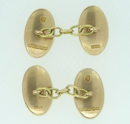 antique-crest-gold-cufflinks-coat-of-arms-15-carat-gold-birmingham-1911