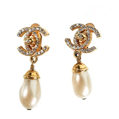 chanel-crystal-turnlock-pearl-earrings-vintage-gold-cc-logo-rhinestone-drop-pre-owned-used