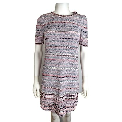 chanel-2018-dress-pink-multicolor-sparkle-stripes-us-4-36-pre-owned