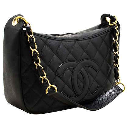 chanel-caviar-chain-one-shoulder-bag-black-quilted-leather-zipper-8