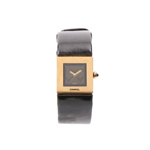 chanel-18k-patent-matelasse-watch-black