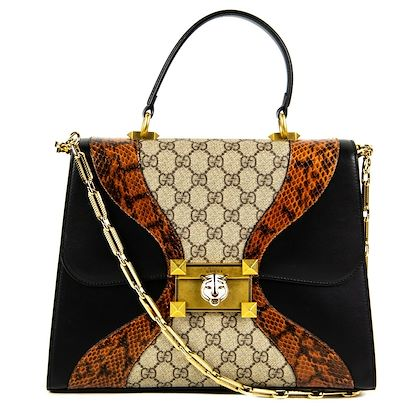 gucci-osiride-medium-gg-supreme-shoulder-bag-leather-python-snakeskin-canvas-pre-owned-used