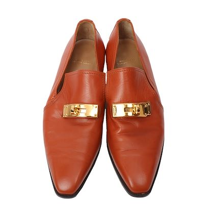 hermes-kelly-loafers-potiron-orange