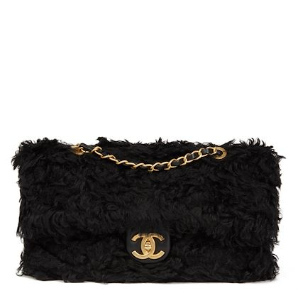 black-fantasy-fur-classic-foldover-flap-bag-2
