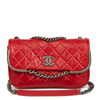 red-quilted-aged-calfskin-leather-single-flap-bag