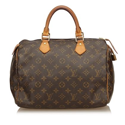 brown-louis-vuitton-canvas-and-leather-monogram-speedy-30-bag