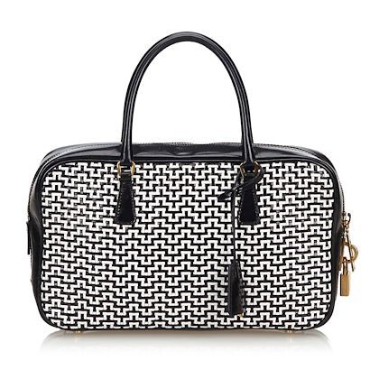 black-and-white-prada-woven-leather-tote-bag