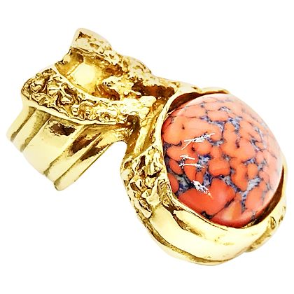 yves-saint-laurent-arty-coral-ring-size-5