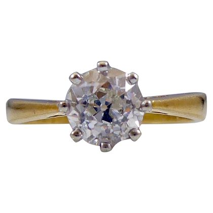 089-carat-old-european-cut-diamond-solitaire-engagement-ring