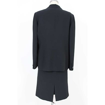 gianfranco-ferre-vintage-suit-skirt-jacket-ceremony-cotton-blue