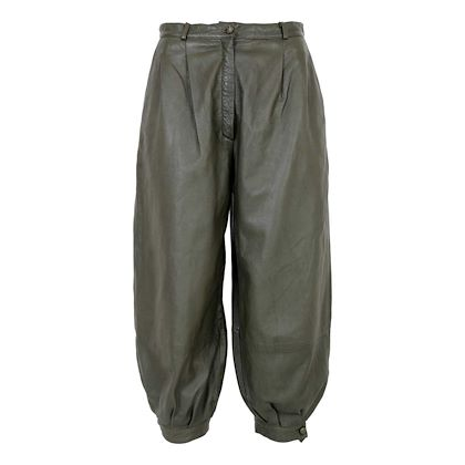 trussardi-trousers-vintage-80s-leather-high-waist-green