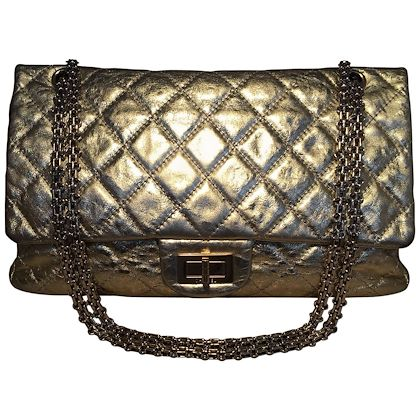 chanel-gold-distressed-leather-255-reissue-227-double-flap-classic