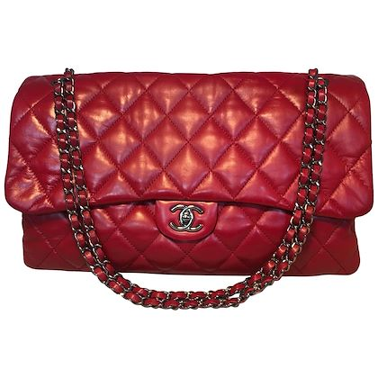 limited-edition-chanel-red-quilted-lambskin-xl-classic-flap-shoulder-bag