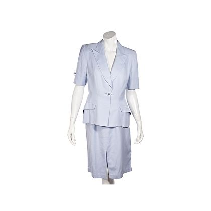 light-blue-thierry-mugler-skirt-suit-set