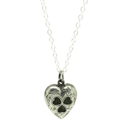antique-edwardian-connemara-marble-irish-love-heart-silver-necklace
