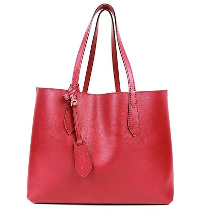 burberry-large-plaid-reversible-tote-bag-red-leather-monogram-pre-owned-used