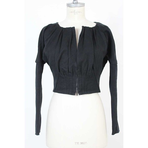 gucci-vintage-jacket-short-bolero-silk-cotton-black