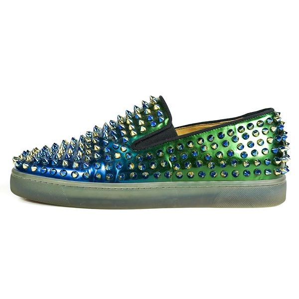 christian-louboutin-ombre-spike-sneakers-blue-green-roller-boat-us-65-395-pre-owned-used