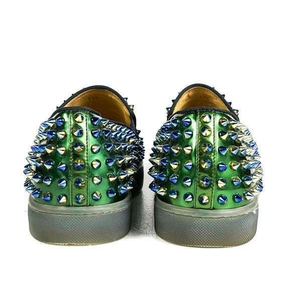 huge discount e94d6 5c219 Christian Louboutin Ombre Spike Sneakers Blue Green Roller Boat - Us 6.5  39.5 Pre-Owned Used