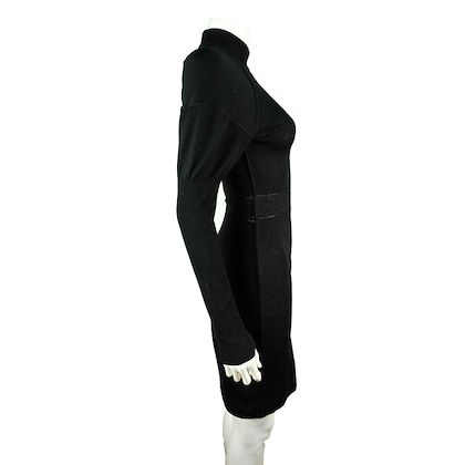 alaia-vintage-dress-black-turtleneck-us-6-8-fr-40-pre-owned-used