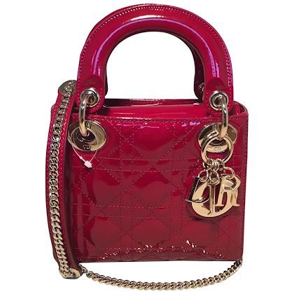 nwot-christian-dior-red-patent-leather-mini-lady-dior-bag