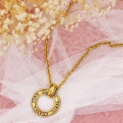 chanel-ring-logo-cutout-plate-necklace