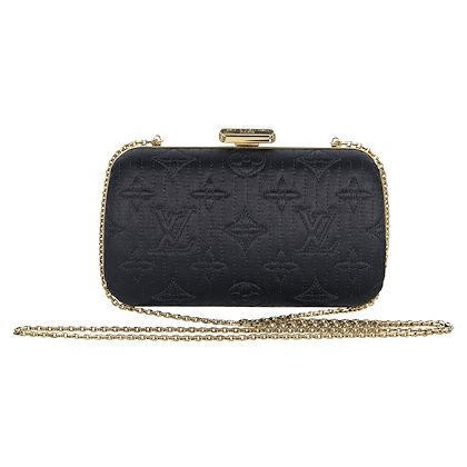 black-louis-vuitton-monogram-satin-clutch