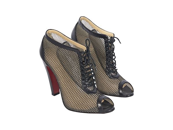 newest collection 383d7 eeba0 Black Christian Louboutin Mesh Ankle Boots