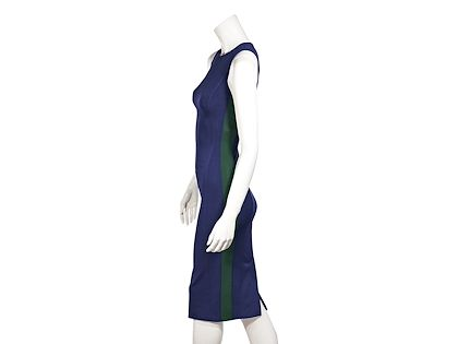 blue-and-green-prada-stretch-knit-midi-dress