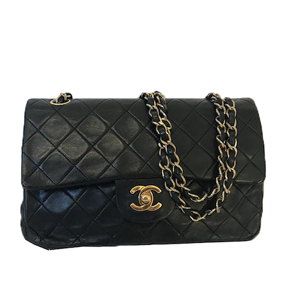 chanel-235-classic-flap-bag-inblack-withgold-hardware