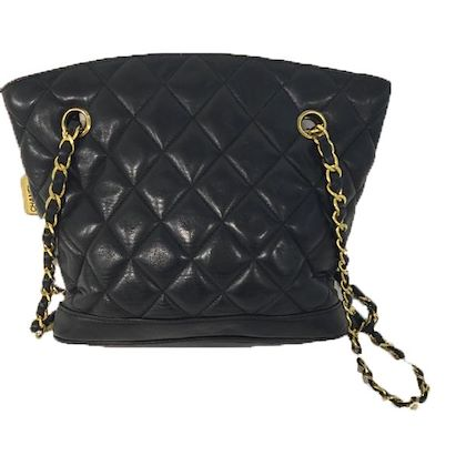 chanel-shopper-black-made-of-leather-with-golden-hardware